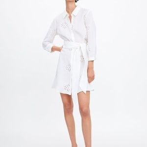 Zara Belted Embroidered Tunic